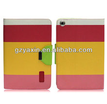 New wallet pu leather case cover for ipad mini Paypal Acceptable