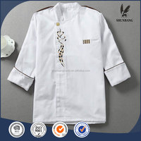 unisex long and short sleeve coat catering jackets White chef uniforms