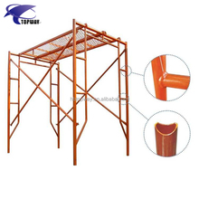 Walk Through H Ladder Frame Movable Steel Scaffolding for Construction