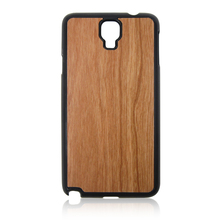 Cherry wood mobile phone covers PC bottom wooden phone shell cell phone hull for Samsung note3 neo