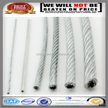 high tensile strength 3mm pvc coated galvanized steel wire rope with low price