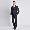 100% wool business fashion slim fit office uniform tailor made man business suit