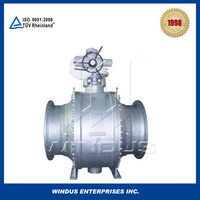 China high quality electrical forged steel fixed ball valve with large caliber