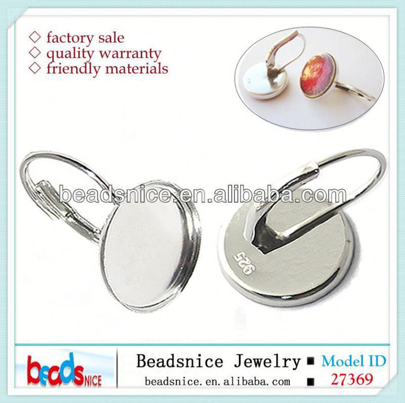 Beadsnice ID30606 925 setting adjustable for woman US size 7 to 9 fit 10mm round sold by PC silver ring blanks