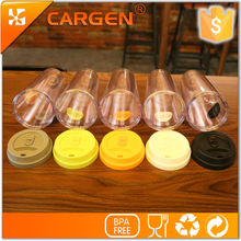 Wholesale oem brand 500ml promotion double wall plastic coffee mug