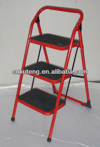 evacuation ladder,steel 3 step Ladder with handle