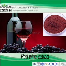 Factory supply Grape Skin Extract /Red Wine Polyphenols/ Red Wine P.E Powder