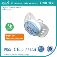Cute LCD display baby nipple pacifier thermometer
