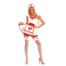 New Fashion Sexy Naughty Japanese Nurse lingerie uniforms costume With Lace Dress
