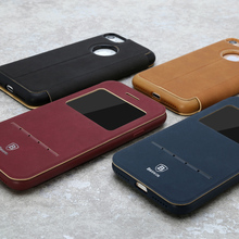 Baseus Mobie phone Accessories for IPHONE 7 Simple Series Leather Case