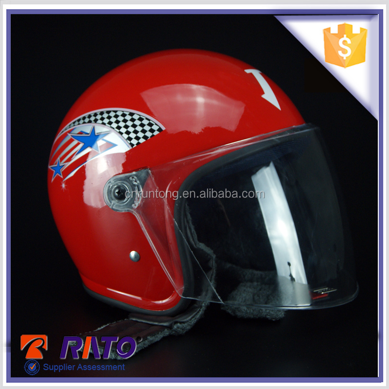 High quality full face red China motorcycle helmet