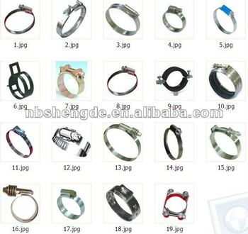 All kinds of stainless steel Clamps,hose clamps, tube clamps