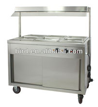 Heat preservation dining car food warmer cart