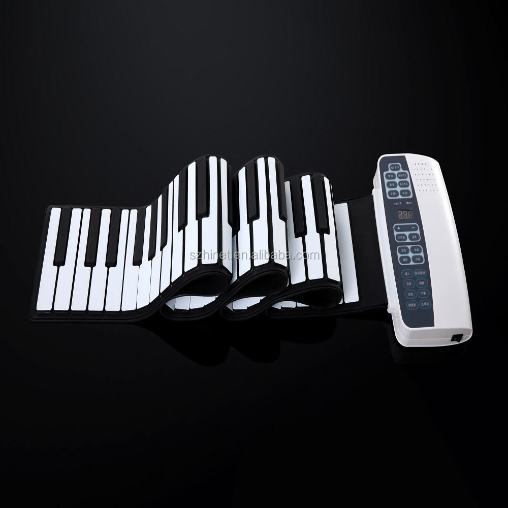 Soft Roll up Electronic Flexible Piano Keyboard 88 Keys Foldable Portable Electric Digital Piano with Midi Plug
