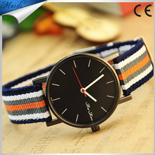 New Quartz fashion watch men wristwatch real leather nylon strap luxury brand rose gold good Quality Watch for men MW-7