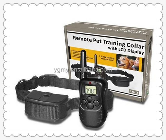 300 Meters Remote Control Dog Training Collar With LCD Display For 1 Dog