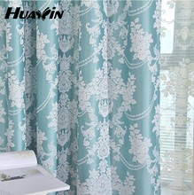 2014 High quality popular fashion jacquard bluckout style window curtains