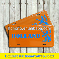 holand license plate souvenir metal plate wholesale blank license plates