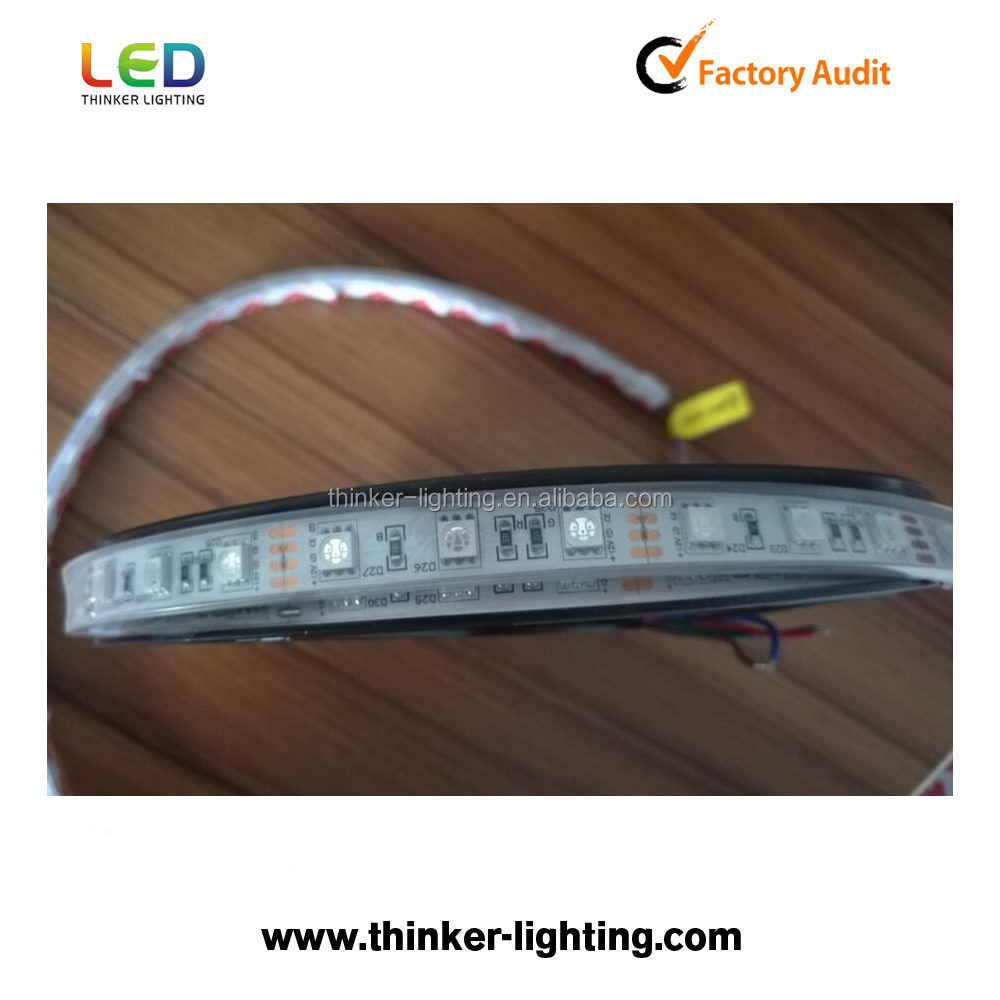 Thinker lighting factory 12 v 5050 waterproof led light strip with 60leds