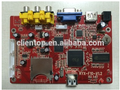 CVBS network advertising displayer lcd monitor vga board supporting real 1080P HD decode and HD output