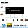 4x2 Matrix Switch 4 in 2 HDMI out with IR Remote