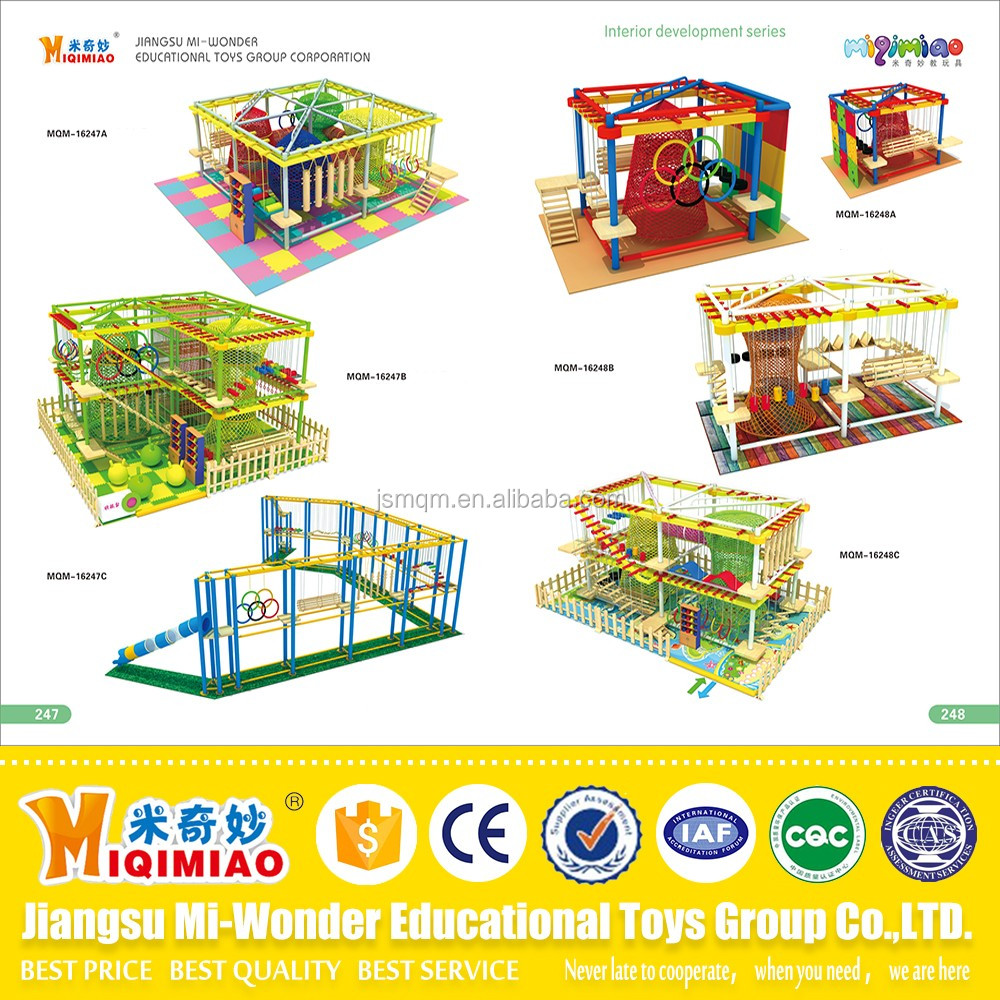 Commercial big kids indoor playground equipment soft play area for sale