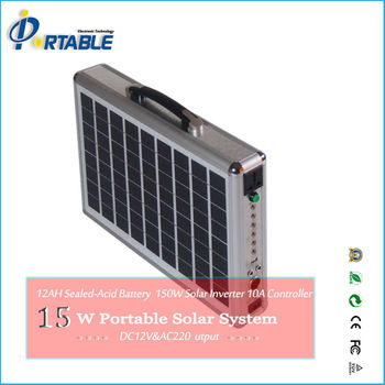 15W ultra-thin solar power kit