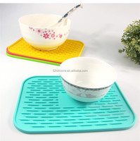 Chinese supplier rubber mat/placemat table dish mat/rubber oval table placemats