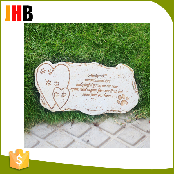 Pet Dog Cat Paw Stepping Stone Grave Memorial Plaque Garden