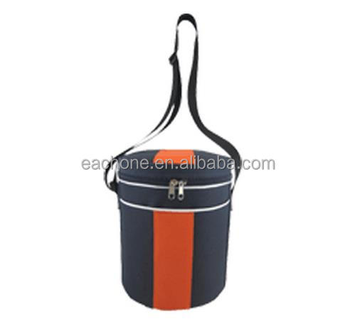 Round Insulated Lunch Camping School Cool Brand Cooler Bag Office