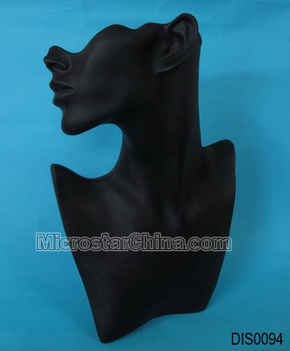 Necklace Standing Bust Display, Plastic