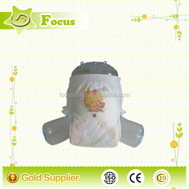 Cotton high quality baby easy up diapers, baby pants diaper, disposable baby diaper