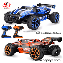 New 1 / 18 Full Scale 2.4G 4 Channel 20KM/H High Speed rc four wheel drive Crossing Car