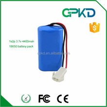 Li-Ion 18650 3.7V 4400mAh Rechargeable Battery module with PCB