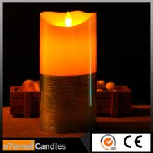 Brand new fashion 3 set multi-color wax flameless led candle 3.5*5/7/9 inches with great price