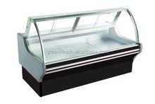 Deli display refrigerator top open with larger space