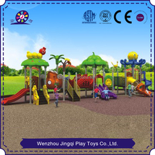 outdoor plastic kids play equipment slide gym playground