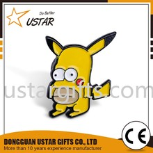 Custom metal Pikachu cartoon character soft enamel lapel pin