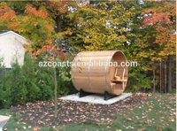 Dry sauna 2015 new model hand made traditional red timber or white pine barrel sauna room