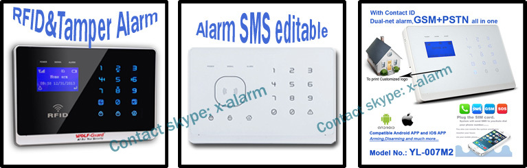GSM alarm systems wireless alarm systems home alarm wifi system