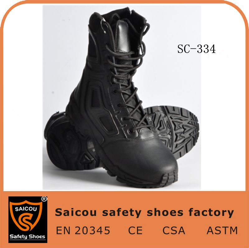 fancy dress shoes boots and brand safety shoes and dubai army combat boots black SC-334