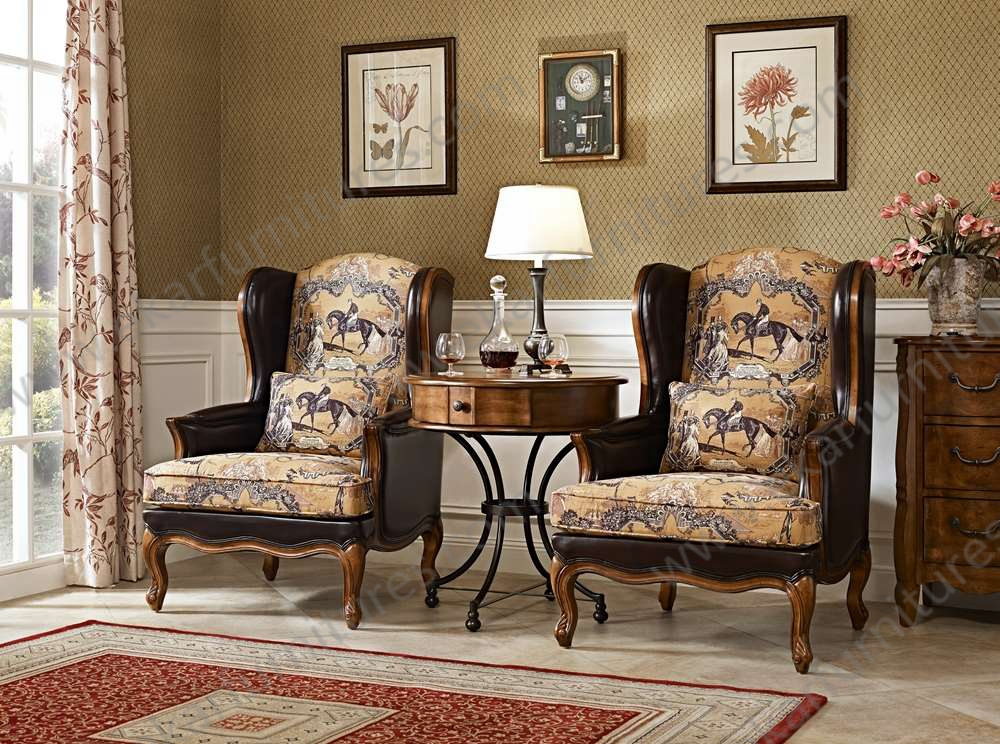 Sitting room furniture wing back chair high back chair - High back wing chairs for living room ...