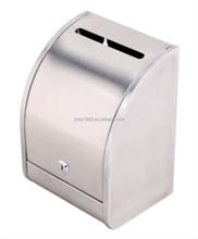 Simple Style Classic Wall Mount Curve Surface Stainless Steel Mailbox&Letter Box&Post Mial Box With Keys