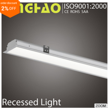 Cool white aluminum body square recessed shower led light trim