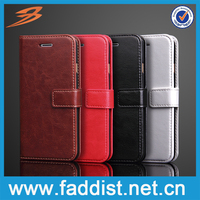 High quality New arrival leather mobile phone case for iphone 7 with card slots