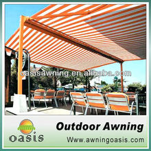 electric swimming pool awning