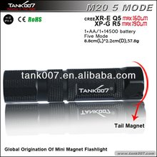 Cree XR-E Q5 LED Magnetic flashlight with magnetic tail M20