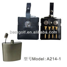 A214-1 New golf bottle set ,golf pouch, golf tee,winebottle holder,golf promotional gift