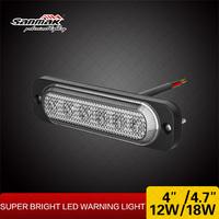 6 LEDs Emergency Red Blue LED Police Lights Super Slim LED Strobe Head with Emark SAE Certifications