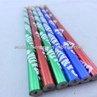 High Quality 7'' HB bass wood heat transfer pencil matte pencil eraser top with logo avaliable